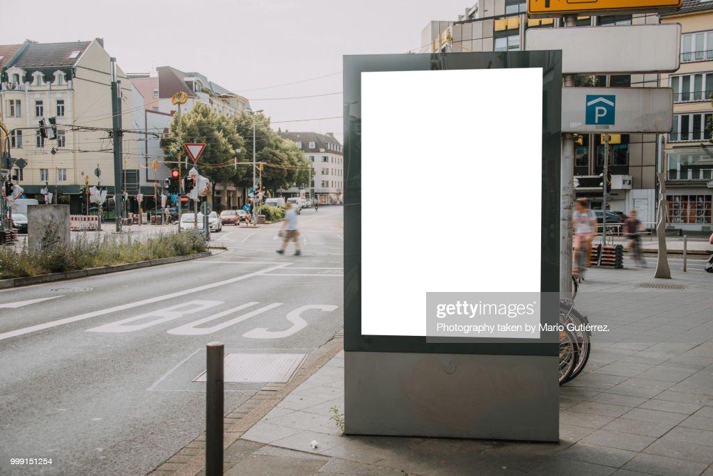 Blank billboard outdoors : Foto stock