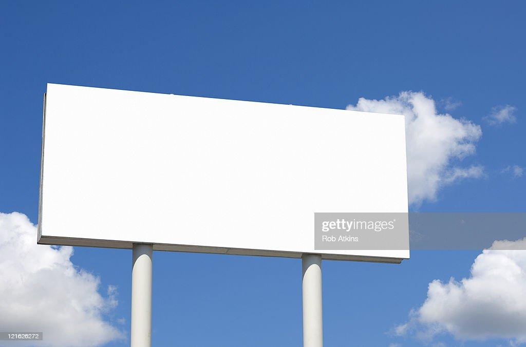 Blank billboard : Stock Photo