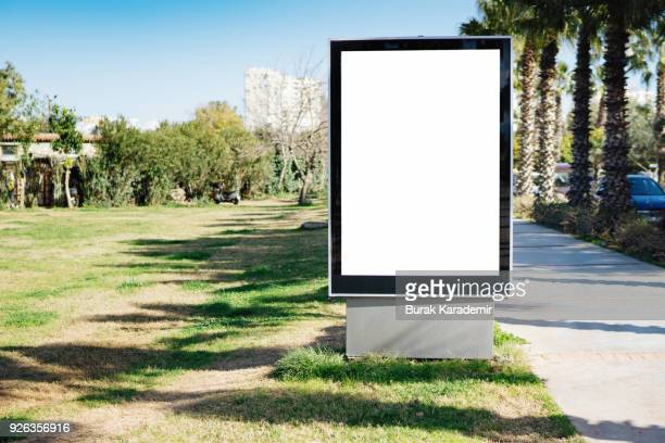 blank billboard - antalya stock-fotos und bilder