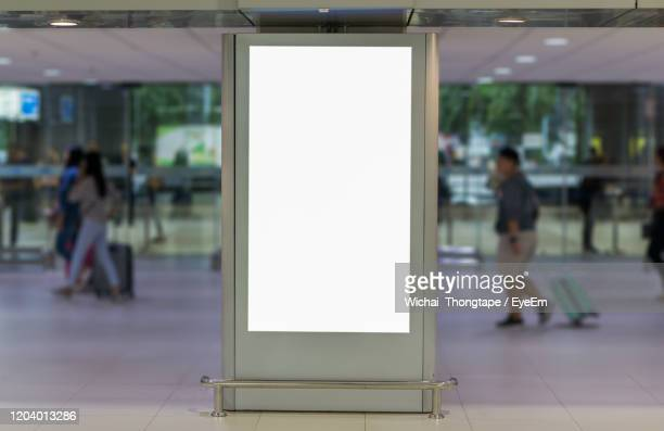 blank billboard posters in the airport,empty advertising billboard at aerodrome. - advertisement stock pictures, royalty-free photos & images