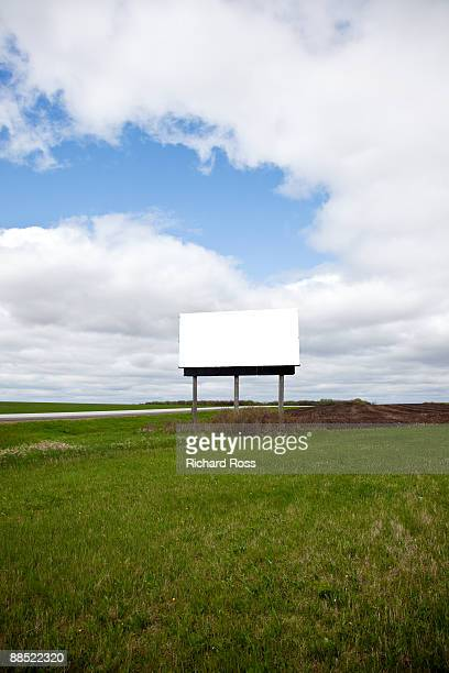 A Blank Billboard Sign on the Side of the Road