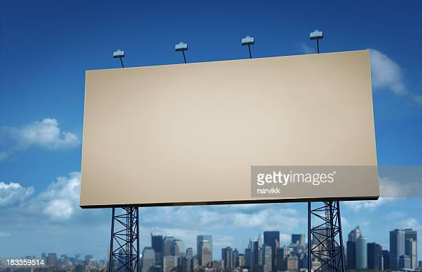 Blank Billboard with Blue Sky Backgroud