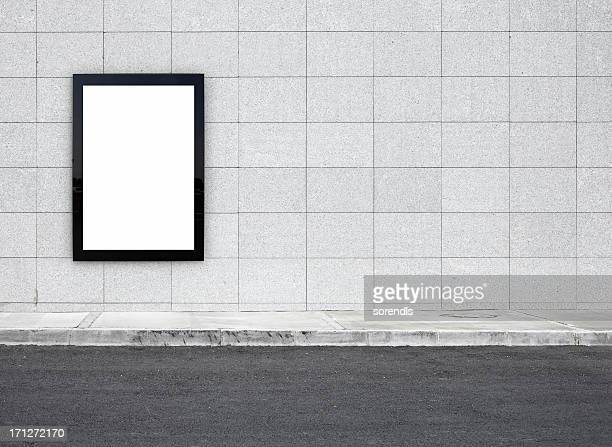 blank billboard xxxl - pavement stock pictures, royalty-free photos & images