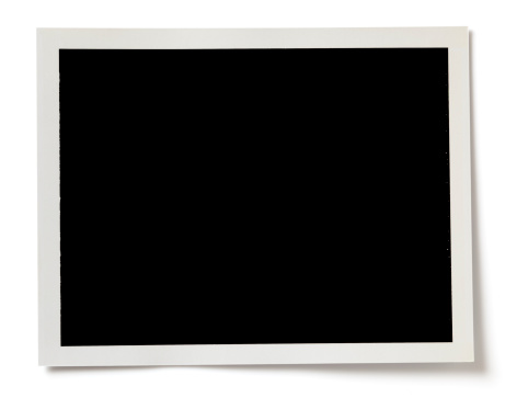 Blank black photo with a white border on white background 185095171