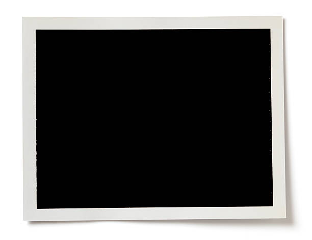 blank black photo with a white border on white background - 攝影 個照片及圖片檔