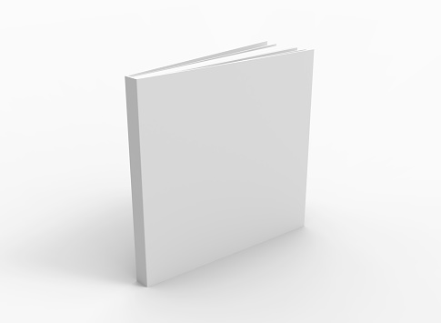 Blank book cover over white background 1089086150