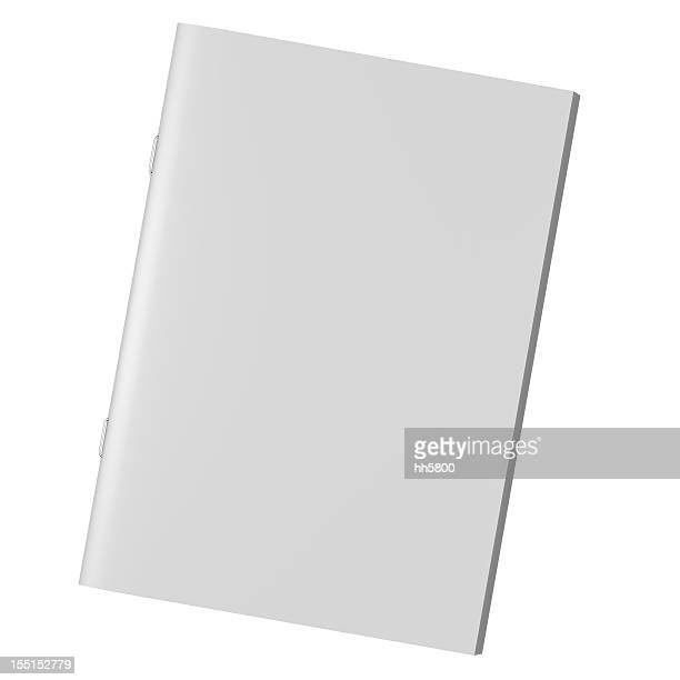 blank book magazine brochure - magazine page stock photos and pictures
