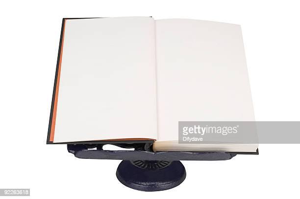 ブランクのブック Bookrest にオープン