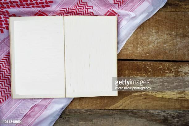 Blank book opened