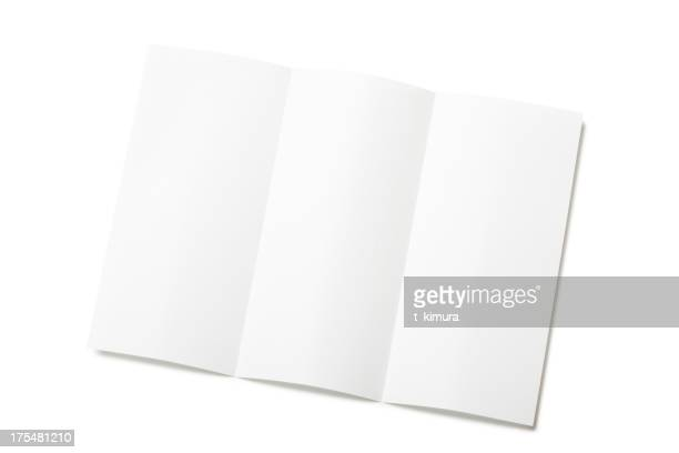 Folleto de blanco