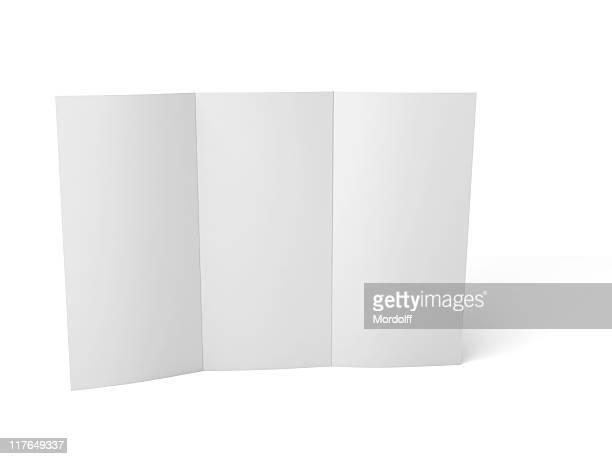Leere Broschüre mit Punkten. clipping-Pfad enthalten