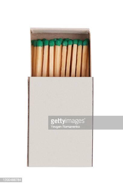 blank box of matches on a white background - fiammifero foto e immagini stock