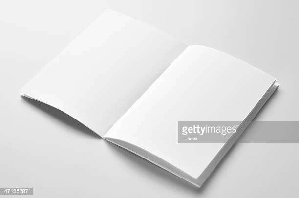 blank brochure - magazine page stock photos and pictures