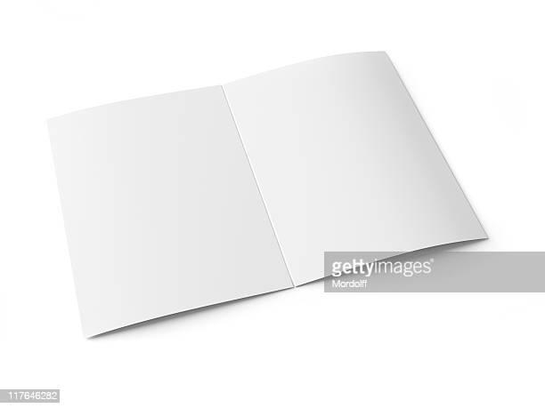 Blank brochure with scoring