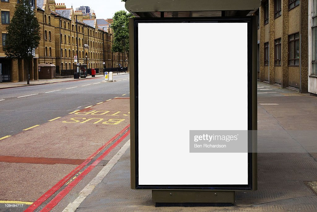 blank bus stop space : Stock Photo