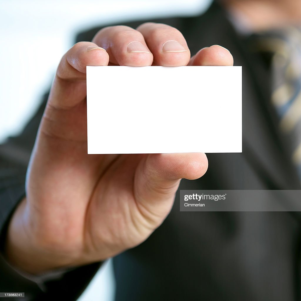 Blank business card in a hand stock photo getty images blank business card in a hand stock photo colourmoves