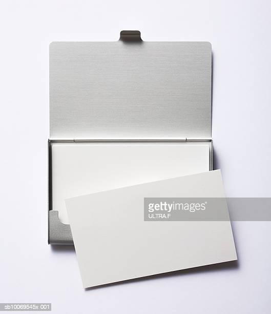 Blank business card in cardcase