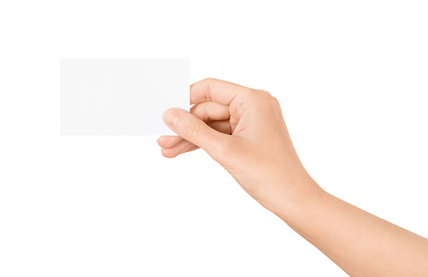 Free hand and business card images pictures and royalty free stock blank business card in hand colourmoves