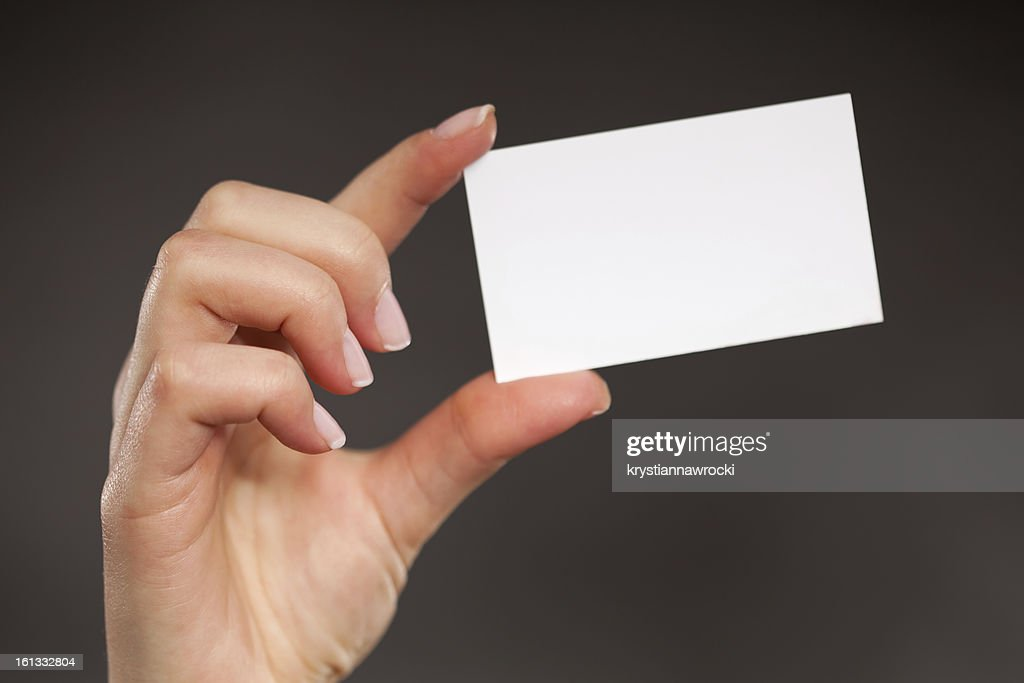 Blank Business Card Stock Photo | Getty Images