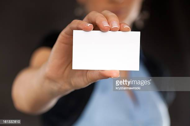 blank business card - human hand stock pictures, royalty-free photos & images