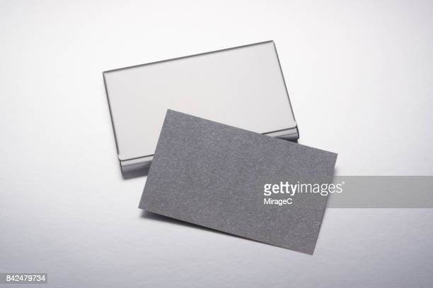 Blank Business Cards in Cardcase