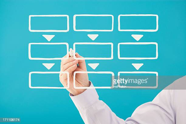 Blank business flow chart