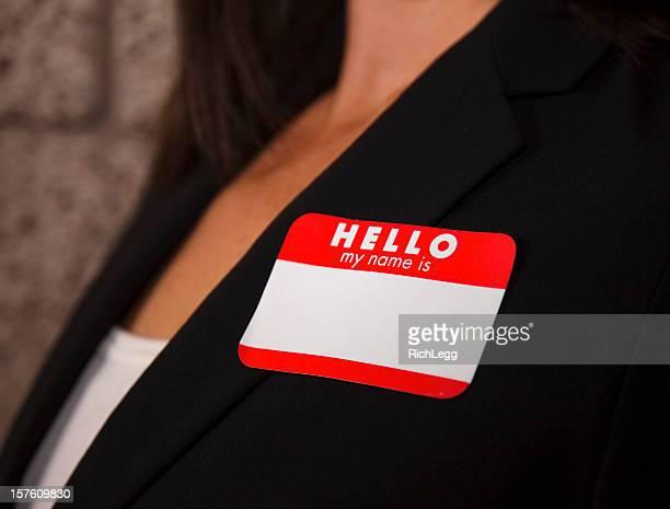 Blank Business Nametag