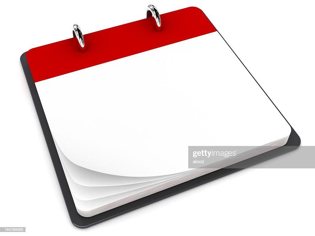 Blank Calendar : Stock Photo