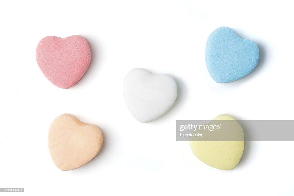 Blank Candy Hearts : Stock Photo