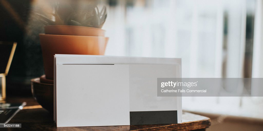 Blank Card in sunlight, for additional design : Stock Photo