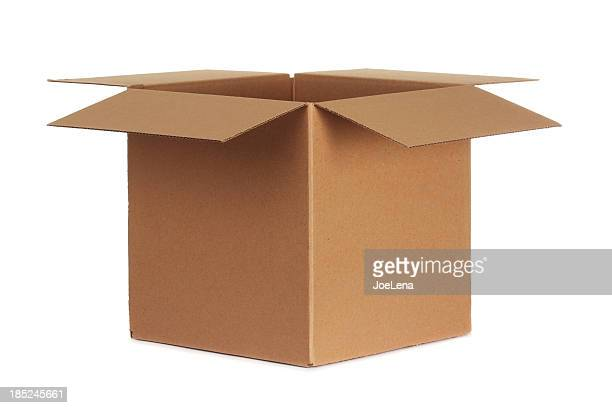 blank cardboard box - carton stock photos and pictures