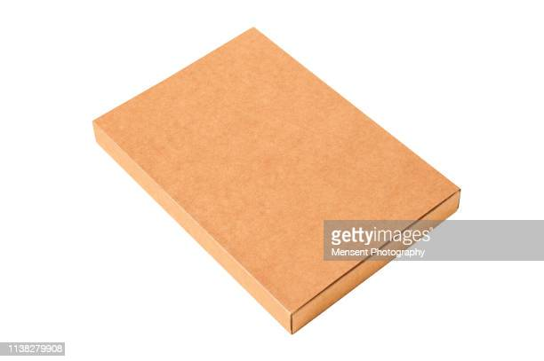 Blank cardboard Box Template isolated over white background