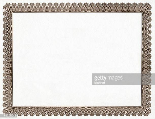 Certificado de bastidor blanco