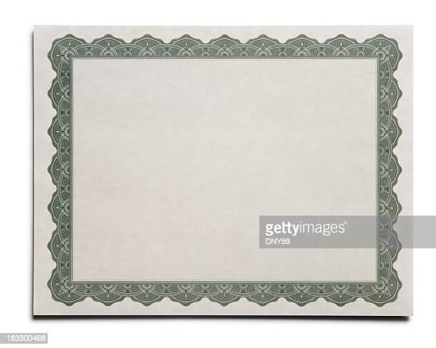 vuoto certificato - diploma foto e immagini stock