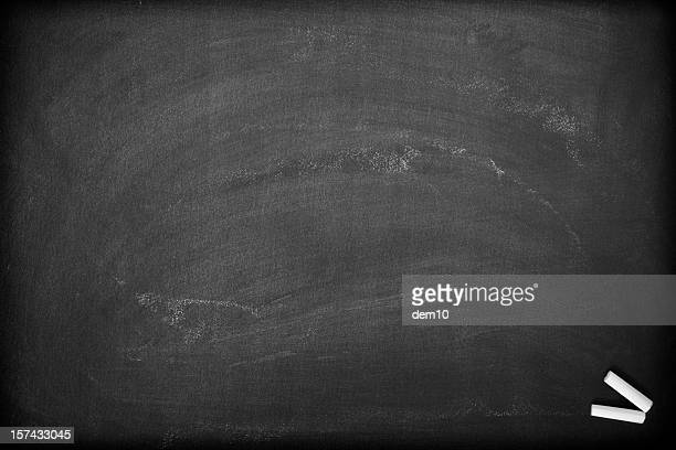 Blank chalkboard background.