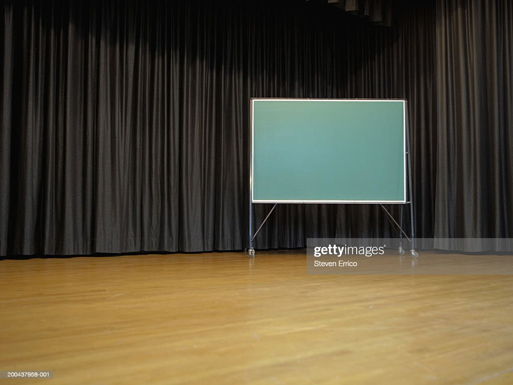blank chalkboard on school stage stock photo getty images