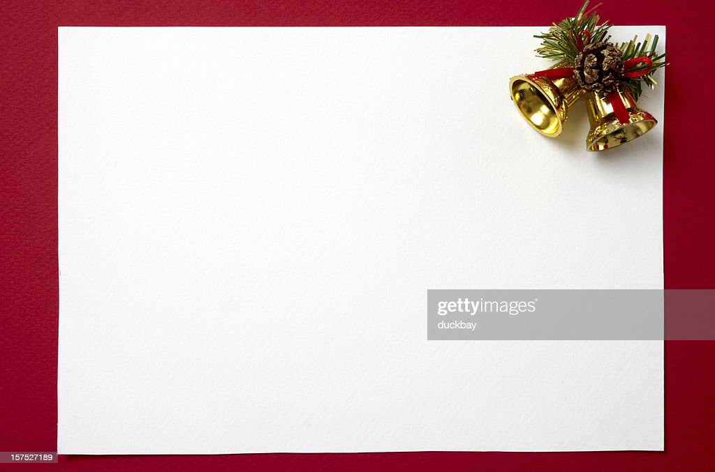 Blank Christmas Card To Decorate Stock Photo | Getty Images