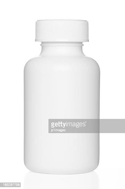 Blank chunky medicine bottle with clipping path