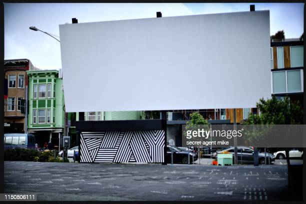 blank city billboard - big mike stock pictures, royalty-free photos & images