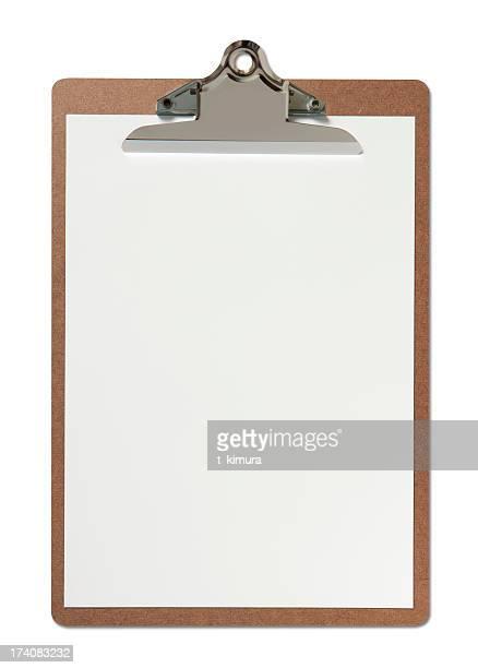 Portapapeles en blanco