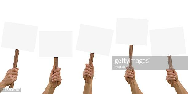 cartel en blanco - manifestación fotografías e imágenes de stock