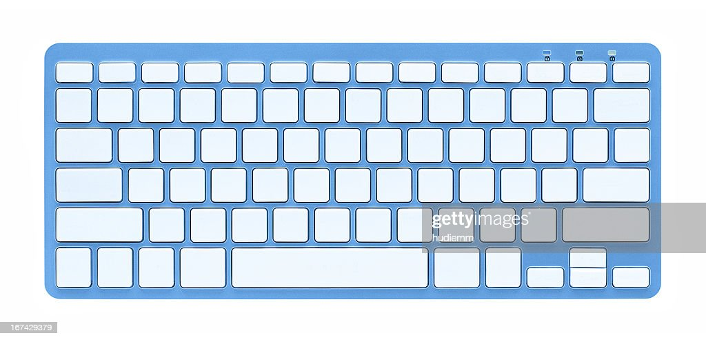 Blank computer Keyboard (Clipping path!) isolated on white background : Stock Photo