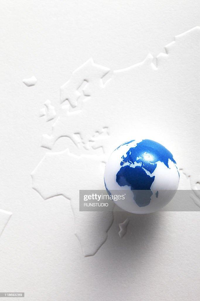 Blank conceptearth shaped ball and world map stock photo getty images blank conceptearth shaped ball and world map stock photo gumiabroncs Gallery