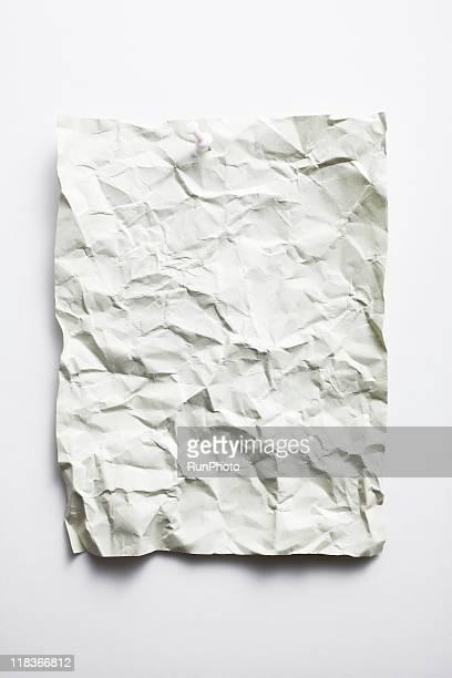 blank concept,wrinkled paper