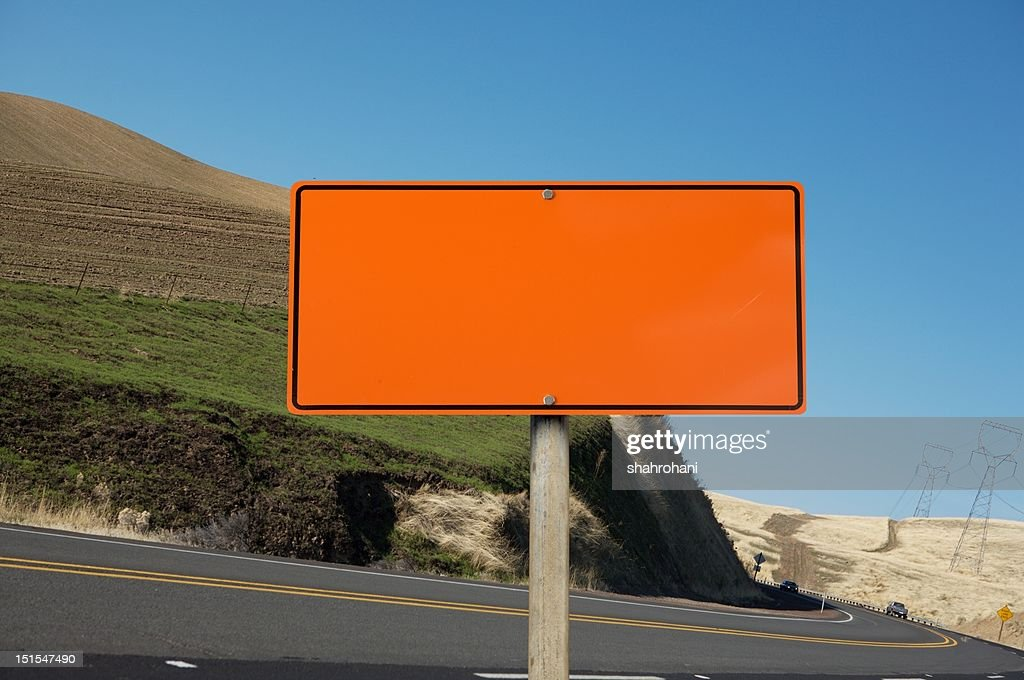blank construction sign stock photo getty images