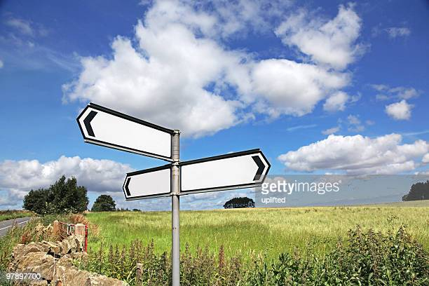 Blank Country Road Sign