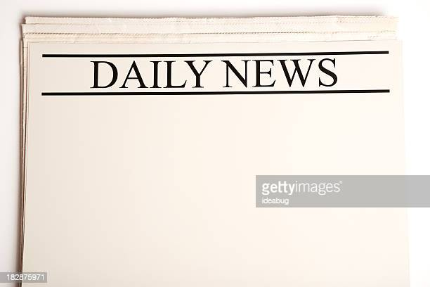 Blank Daily Newspaper for Your Announcement