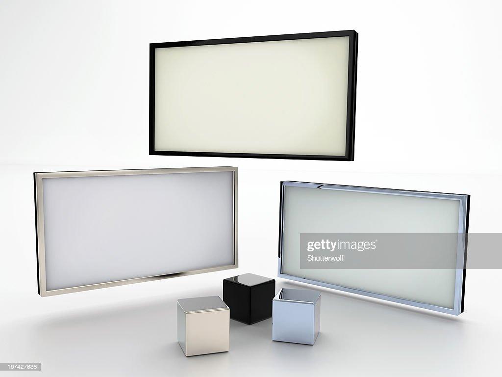 Mostra em branco : Foto de stock