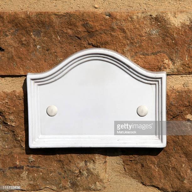 Blank door sign