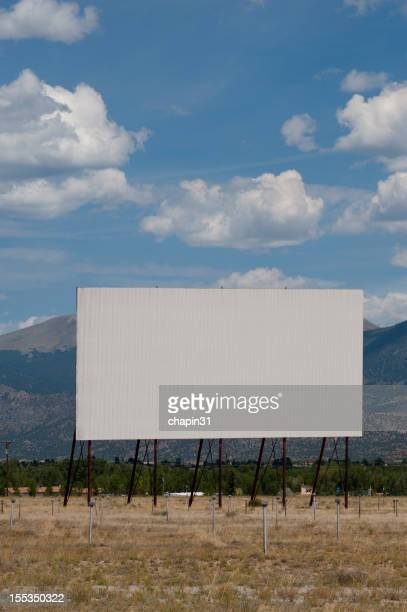 Blank Drive-In Movie Theater in the Mountains